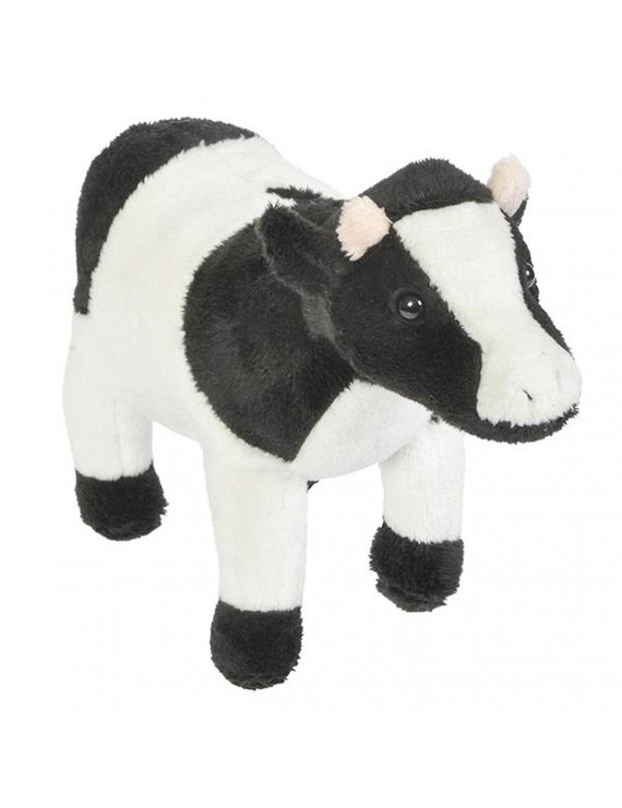 Black and White Cow Plush Stuffed Animal 6.5""