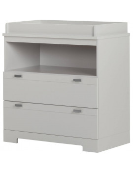 South Shore Reevo Changing Table with Storage, Gray