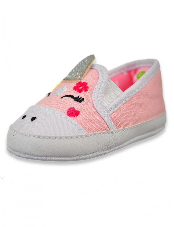 First Steps By Stepping Stones Baby Girls' Unicorn Slip-On Booties (Newborn)