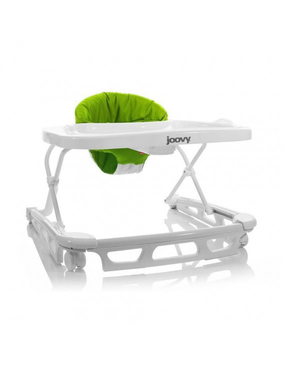 Joovy Spoon Baby Walker with Dishwasher Safe Tray Insert, Greenie