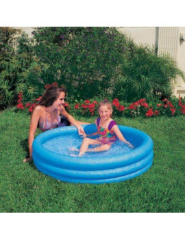 """Crystal 3 Ring Blue Pool, 3-Ring, 66"""" X 16"""" Multi-Colored"""