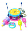 Outtop 5pcs Kids Baby Roll Drum Musical Instruments Band Kit Children Toy