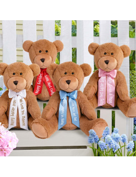 "Personalized 27"" Giant Teddy Bear-Ribbon Available in 6 Colors"