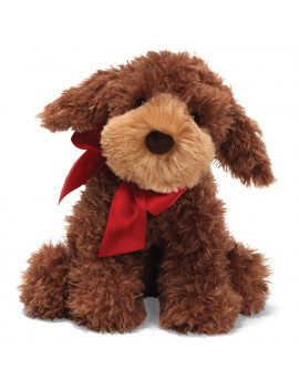 GUND Designer Pup Christmas 4029235 Casy Poogle with Red Ribbon Plush Dog