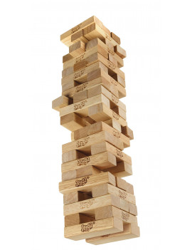 Classic Jenga; Genuine Hardwood Blocks; Stacking Game for Kids Ages 6+