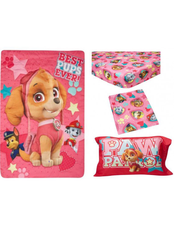 BabyBoom Nick Jr PAW Patrol Skye Best Pups Ever 4-Piece Toddler Bedding Set