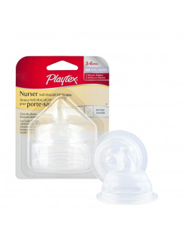Playtex  Natural Shape Fast Flow Silcone Nipples, 2 ct