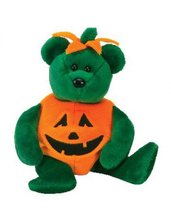 TY Beanie Baby - TRICKY the Bear (Wearing Pumpkin Constume) (9.5 inch)