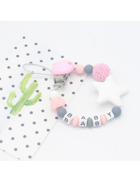 Pacifier chain baby new Silicone Baby Pacifier Clip Colorful Pacifier Chain for Baby Teething Soother Chew Toy