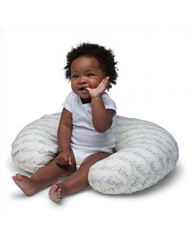 boppy original nursing pillow and positioner, love letters, cotton blend fabric with allover fashion