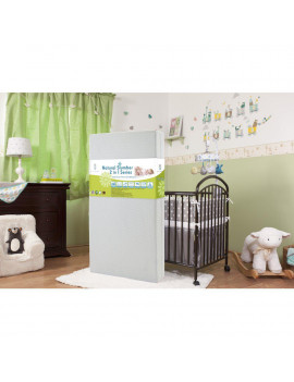 Baby Dream Time IV2 in I Crib Mattress with Organic Cotton Layer and Seamless Edge