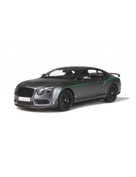 Bentley Continental GT3-R Satin Grey Limited Edition 1/18 Model Car by GT Spirit for Kyosho