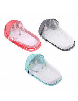 2 IN 1 Foldable Portable Baby Infant Travel Sleep Bag Bed Multi-functional Folding Crib with Mosquito Nets Prevent Mosquitoes