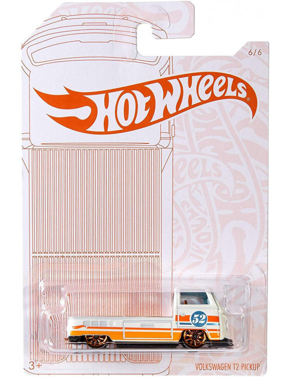 Hot Wheels Pearl & Chrome Volkswagen T2 Pickup Die-Cast Car