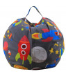 Siaonvr Kids Stuffed Animal Plush Toy Storage Bean Bag Soft Pouch Stripe Fabric Chair B