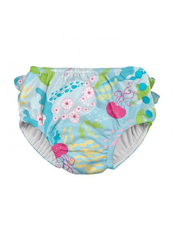 i play. Baby and Toddler Girls Ruffle Snap Reusable Absorbent Swim Diaper