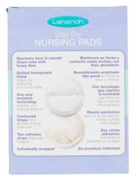 (2 Pack) Lansinoh Disposable Nursing Pads, 60 ct
