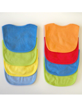 Neat Solutions Solid Multi Color Bib Set, Boy, 8 Pack