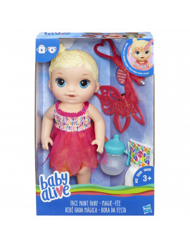 Baby Alive Face Paint Fairy, Blonde Hair Doll, for Kids Ages 3 and up