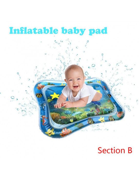 Fysho Baby Infant Inflatable Cartoon Pattern Water Play Mat Fun Activity Play Center PVC Water Filled Playmat