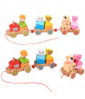 〖Follure〗Wooden Rocking Farm Animals Pull Train Toy Baby Rock Baby Toys Gift For Toddler