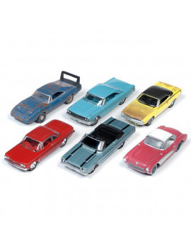 1 by 64 Scale Muscle 2019 Release 2B Model Car, 6 Piece
