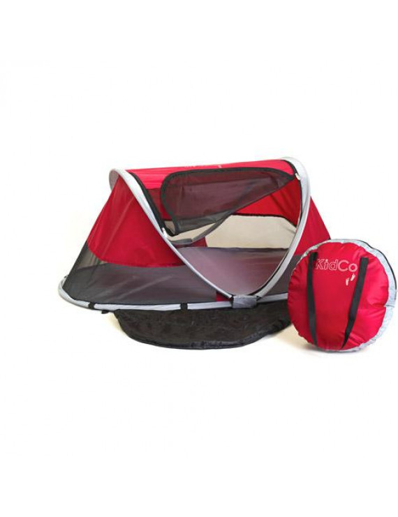 KidCo PeaPod Portable Travel Bed, Cranberry
