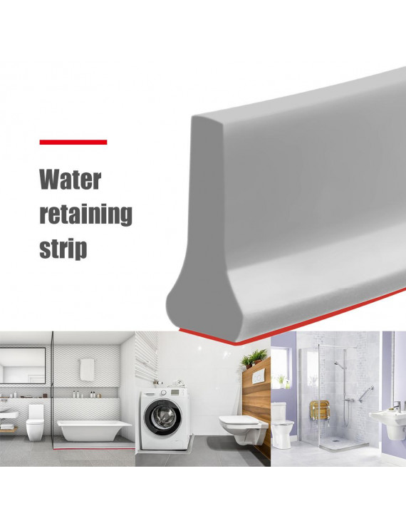 Collapsible Shower Threshold Water Dam Barrier and Retention System