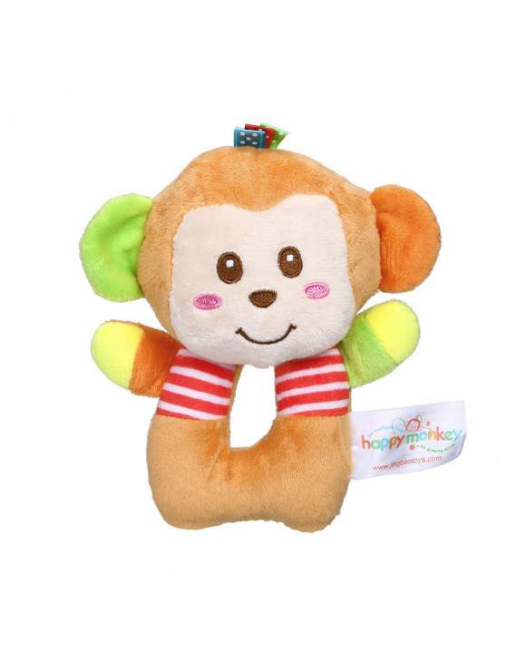 YIWULA Infant Baby Soft Stuffed Hand Bells Animal Handbell Rattles Handle Toys For Kids