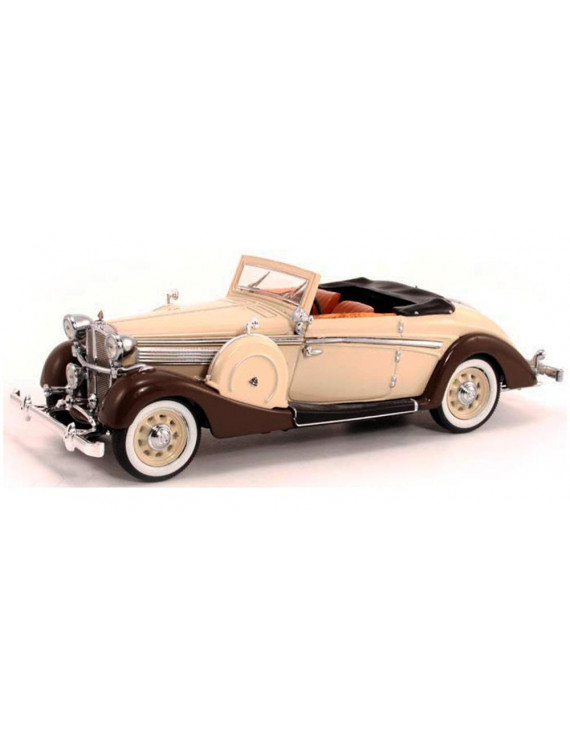 1937 Maybach SW38 Spohn Convertible Coupe, Tan & Brown - Signature Models 43705 - 1/43 Scale Diecast Model Toy Car