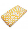 American Baby Company Heavenly Soft Chenille Fitted Contoured Changing Pad Cover, Yellow Gotcha, for Boys and Girls