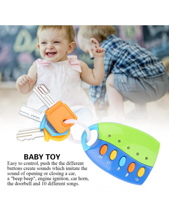 OTVIAP Remote Car Baby Toy,Baby Toy Smart Key Remote Car Control Musical Pretend Play for Kids Education Toys,Baby Car Toy
