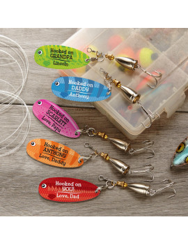 Personalized Family Of Fish Fishing Lure - Available in 12 Colors