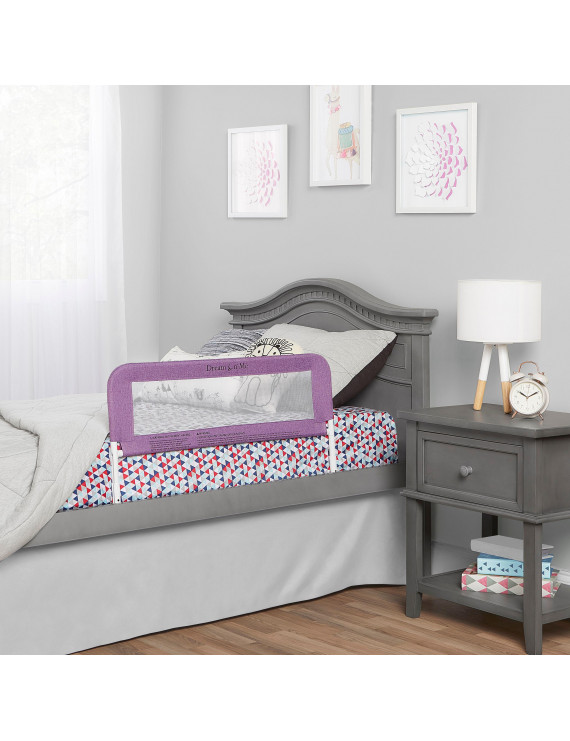 Dream On Me Security Rail For Twin Size Bed in Purple