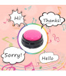 Small Size Easy Carry Voice Recording Sound Button for Kids Interactive Toy Answering Buttons Orange+Pink+Blue+Green