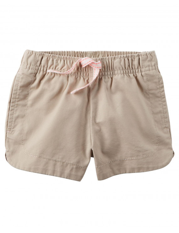 Carter's Baby Girls' Cinch-Up Twill Short, 3 Months