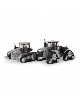 1/64 Limited Edition 100 Years Silver and Black John Deere 9470RX and 8370RT Two Piece Set