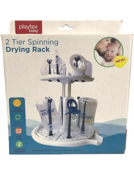 Playtex 2 Tier Spining Drying Rack - White