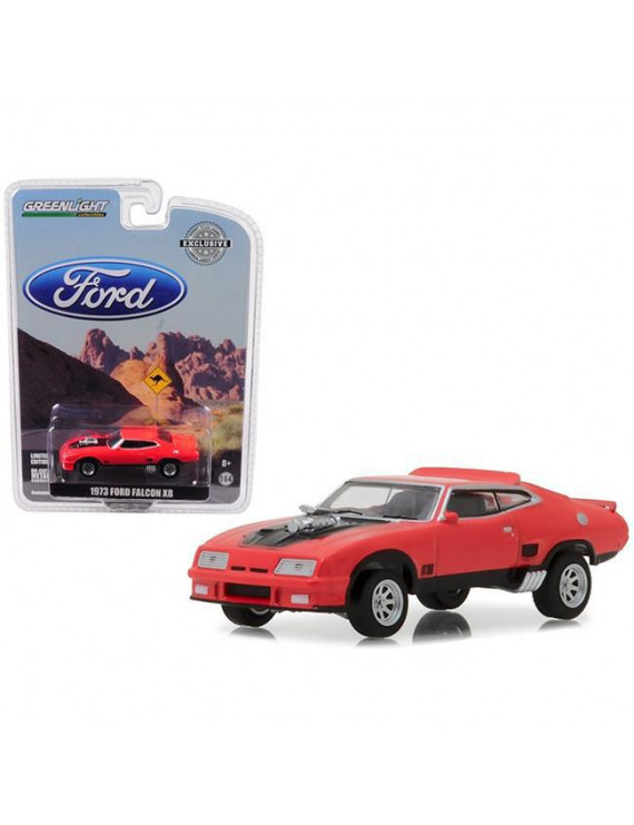 1 isto 64 1973 Ford Falcon XB Diecast Car Model, Red Pepper with Black Stripe