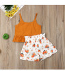 US Toddler Baby Girls Outfits Tops Bow Short Pant Dress 2PCS Set Clothes Sunsuit