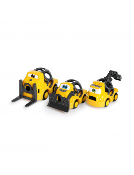 Bright Starts Go Grippers John Deere Construction Crusiers Push Vehicles Set, Ages 12 months +