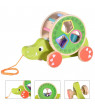 Wooden Shape Pull Toy - Wooden Puzzle Educational Toy Toddler Learning Toy