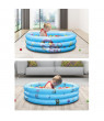 GadgetVLot Baby Inflatable Round Swimming Pool for 0-3 Years Old PVC Kids 3-Layers Swim Center Water Play Bathtub