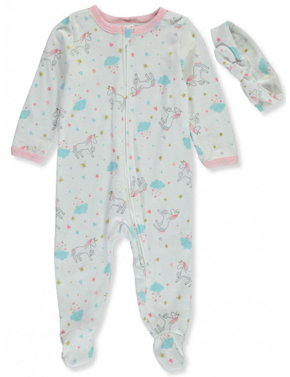 Emporio Baby Baby Girls' Unicorn 2-Piece Layette Set (Newborn)