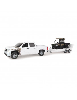 Big Farm REALTREE EDGE Camouflage Chevrolet Pickup with John Deere 825i Gator and Trailer