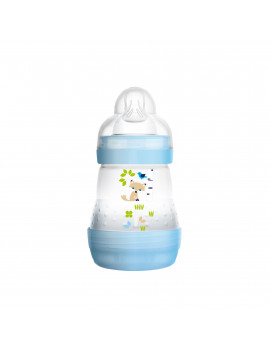 MAM Baby Bottles for Breastfed Babies, MAM Baby Bottles Anti-Colic, Boy, 5 Ounces, 1-Count