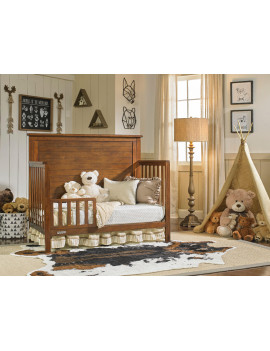 Fisher-Price 19 inch Toddler Guard Rail, Rustic Brown