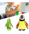 OTVIAP Cartoon Cute Electric Recording Learning Talking Plush Parrot Early Education Toy(Green)