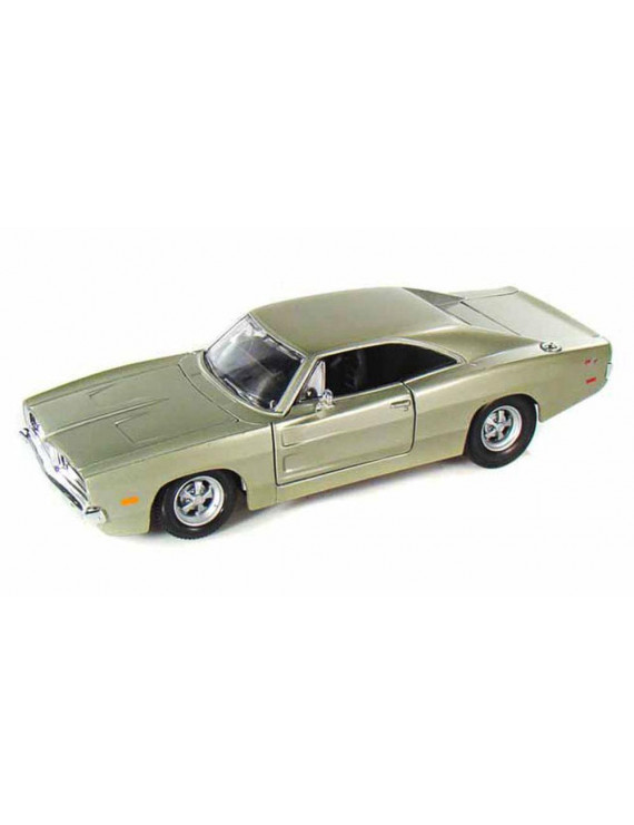 1969 Dodge Charger R/T, Champagne Silver - Maisto 31256 - 1/24 Scale Diecast Model Toy Car
