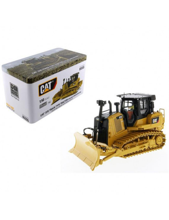 Diecast Masters 85555 CAT Caterpillar D7E Track Type Tractor Dozer in Pipeline Configuration with Operator High Line Series 1-50 Diecast Model